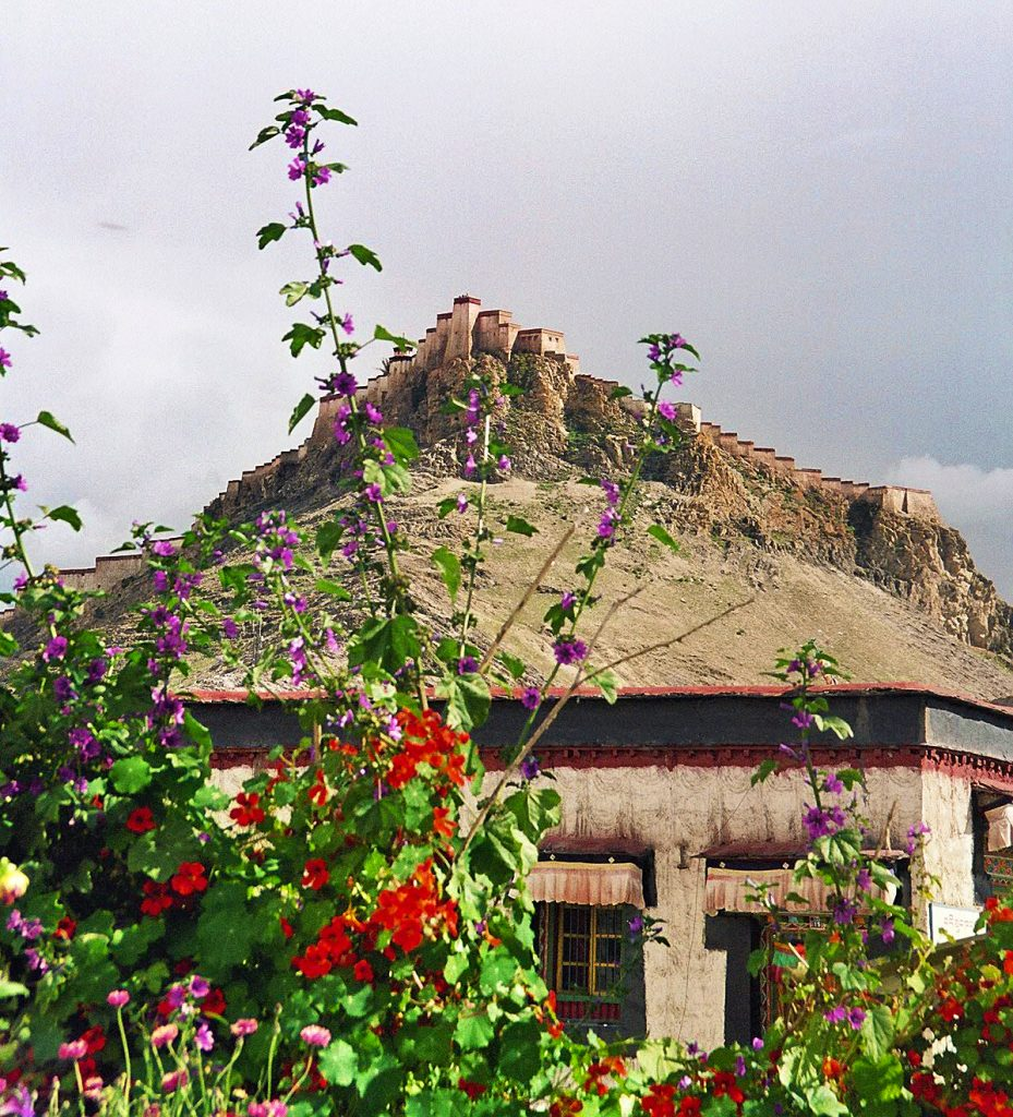 Gyanste Fort seen from the old town