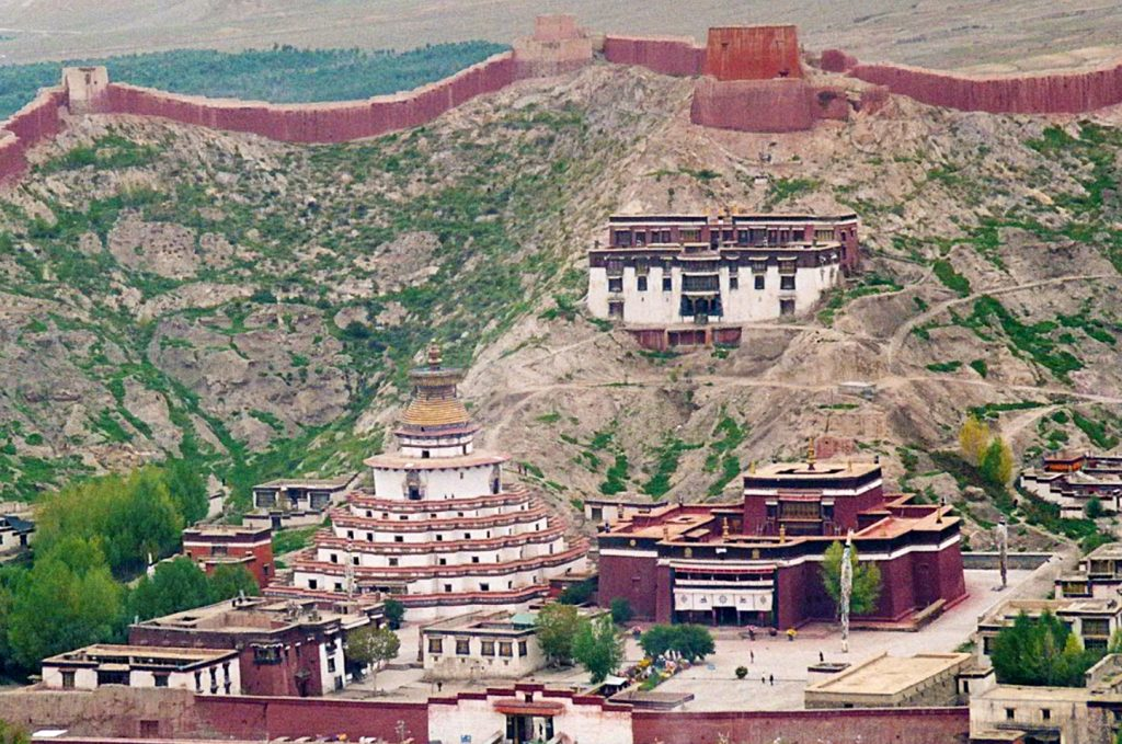 The Kumbum Gyantse Tibet and Gyanstse Monastary