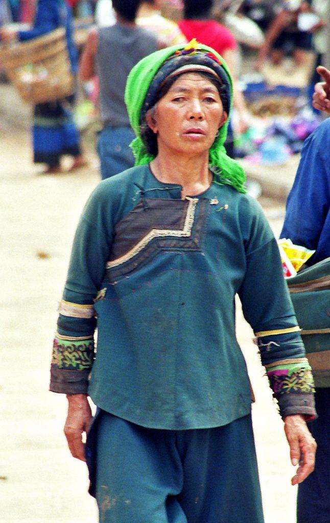 Hani minority Laomeng Market 老勐 市场 Jinping Yunnan