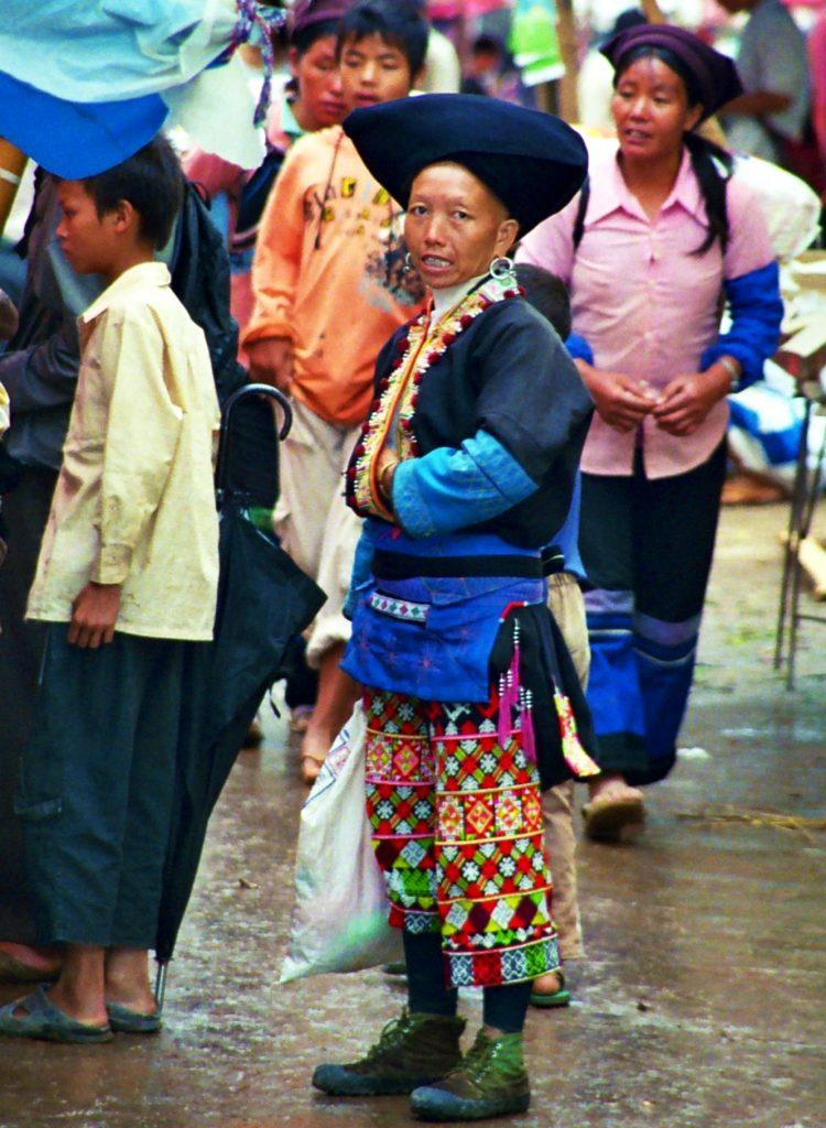 Yao minority Laomeng Market 老勐 市场 Jinping Yunnan