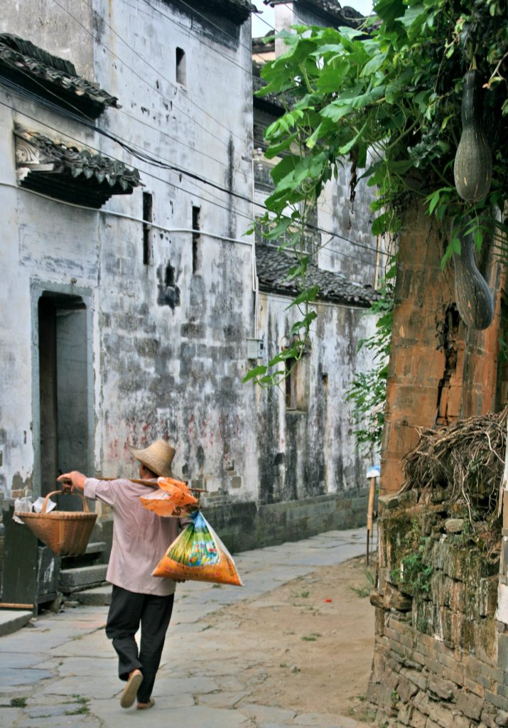 Old streets Yancun Village Wuyuan