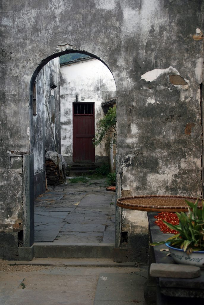 Beautiful old Huizhou style houses Yancun Village Wuyuan