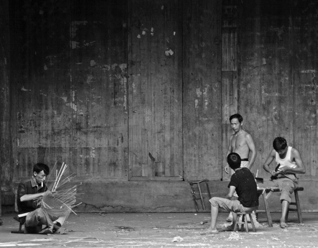 Wicker basket making Yancun Village Wuyuan