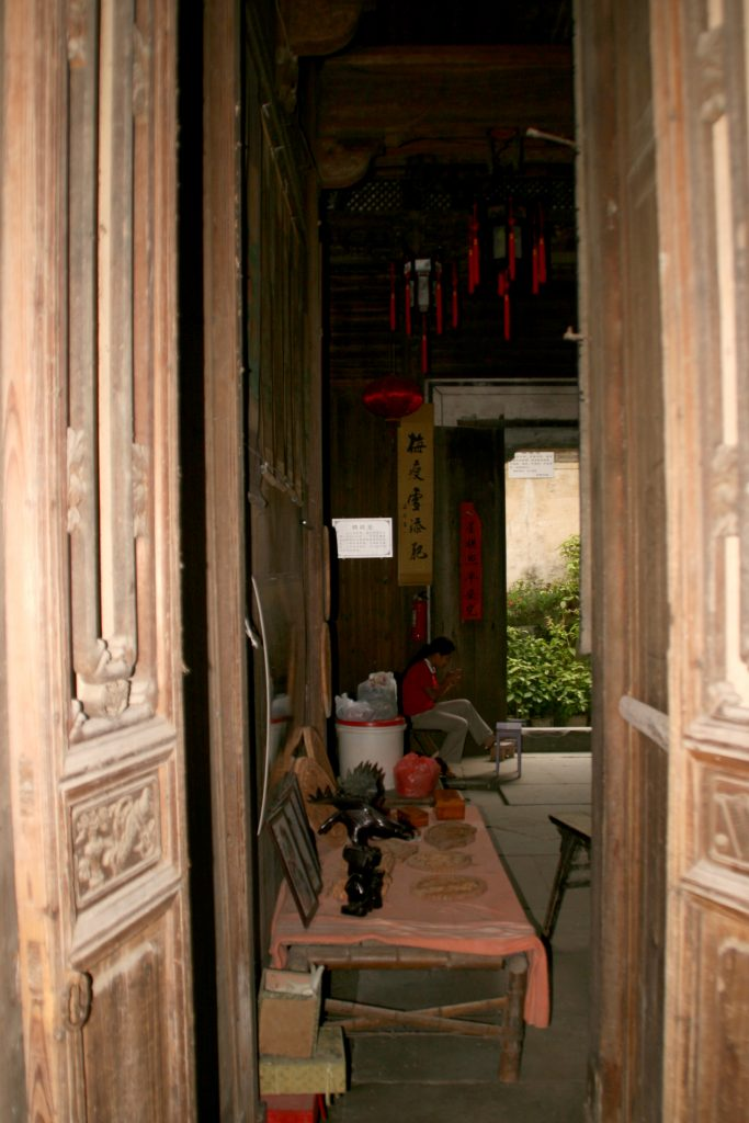 Beautiful old Huizhou style houses Yancun Village Wuyuan