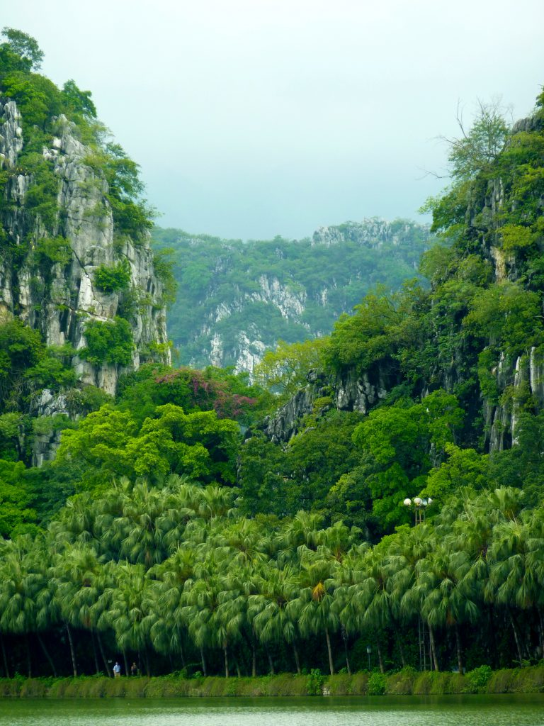 Seven Star Crags in the middle of Zhaoqing 肇庆. The land of king kong
