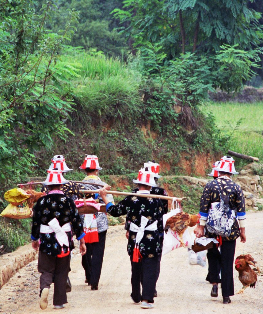 Gejia Ladies returning home to Matang