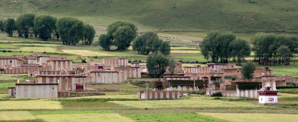 Sturdy Tibetan Farm Houses