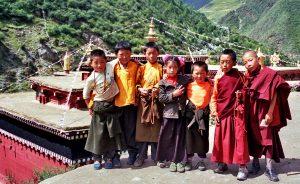 Tibetan Children In Dege