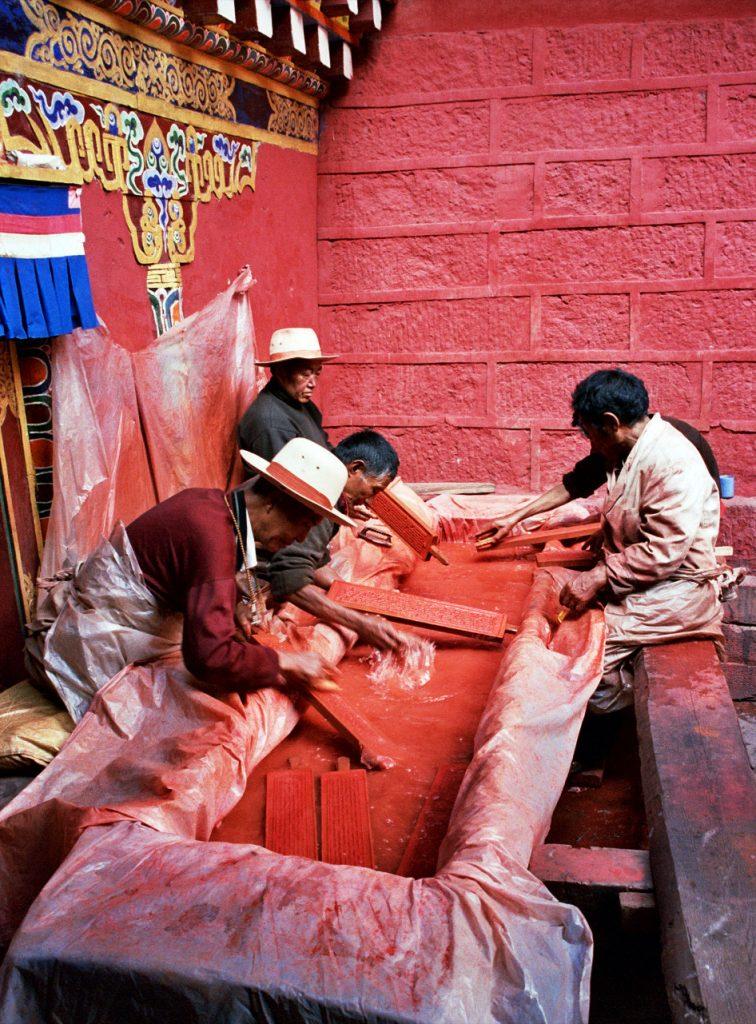 Print Dying Bakong Tibetan Printing Monastery Dege