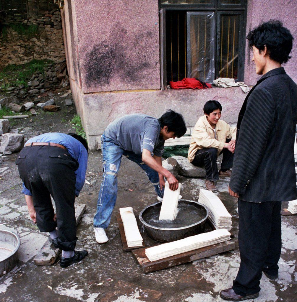 Making Paper Bakong Tibetan Printing Monastery Dege