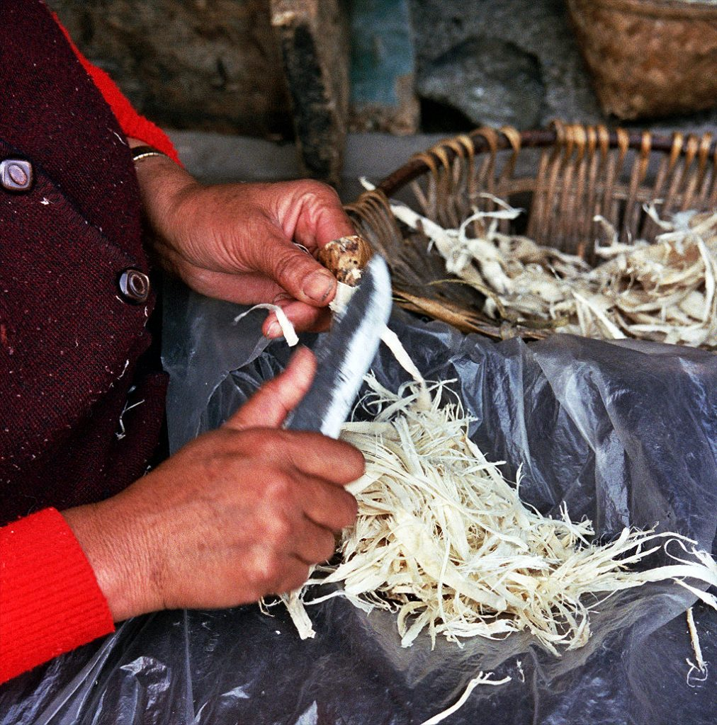 Making printing Paper Bakong Tibetan Printing Monastery Dege
