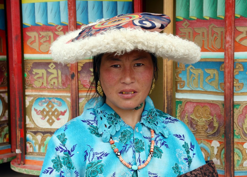 Tibetan Lady At Serxu Monastery
