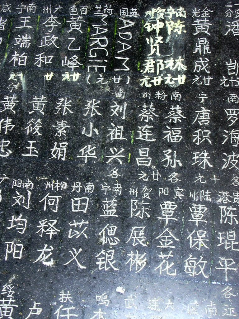 Imortalizing our names in Yangmei