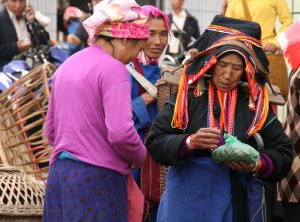 Hani Minority in Xiding Market Yunnan
