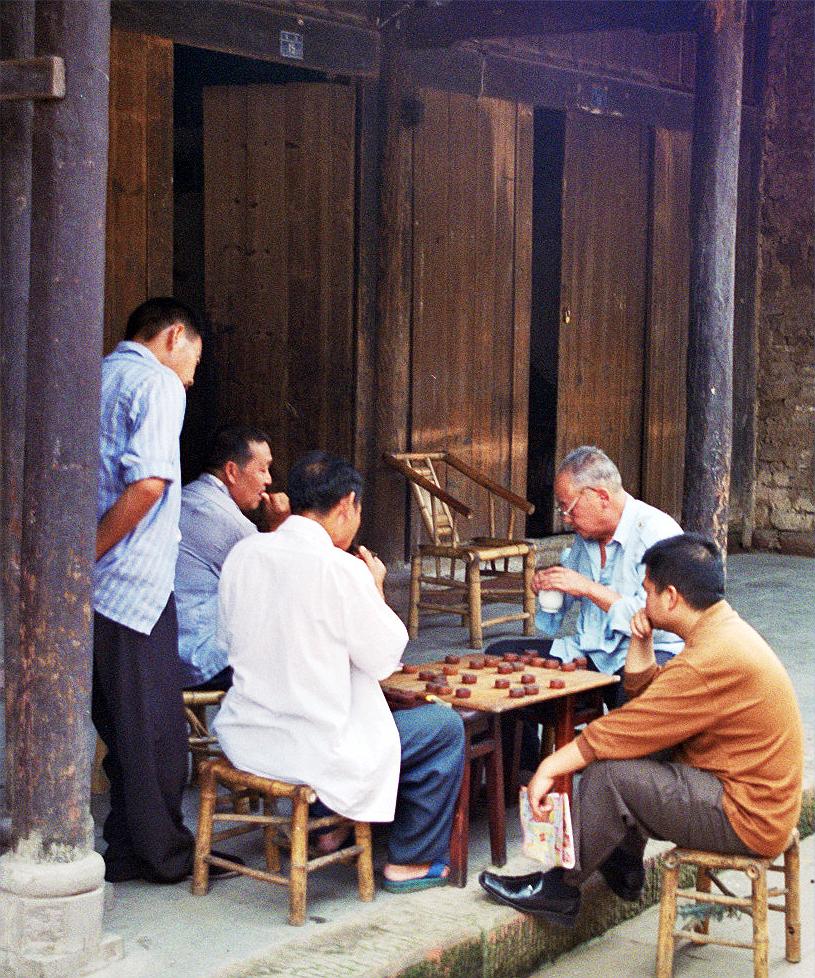 Playing Board Games Huanglongxi