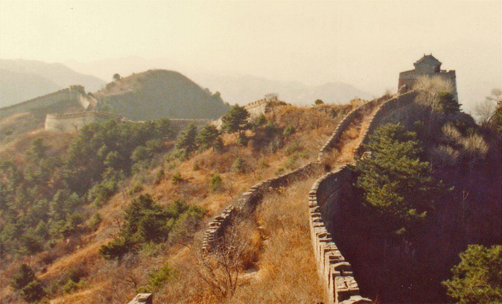 Wild wall at Mutianyu 1990