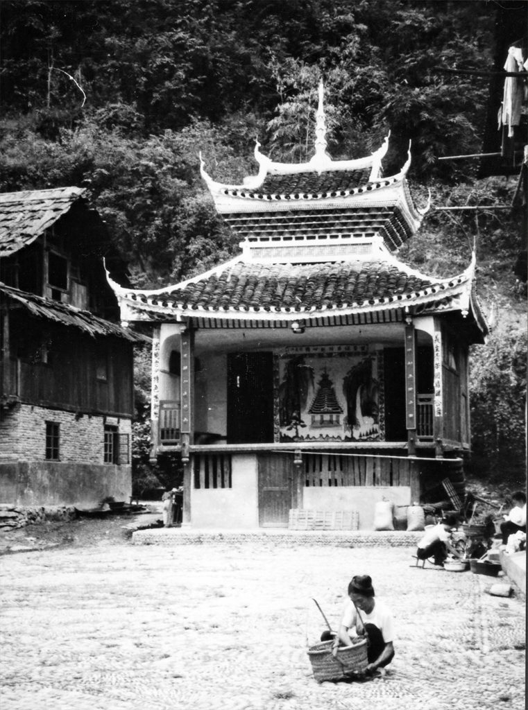 Zhaoxing theatre and Dong lady with basket