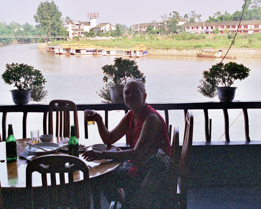 A cold beer by the river Huanglongxi