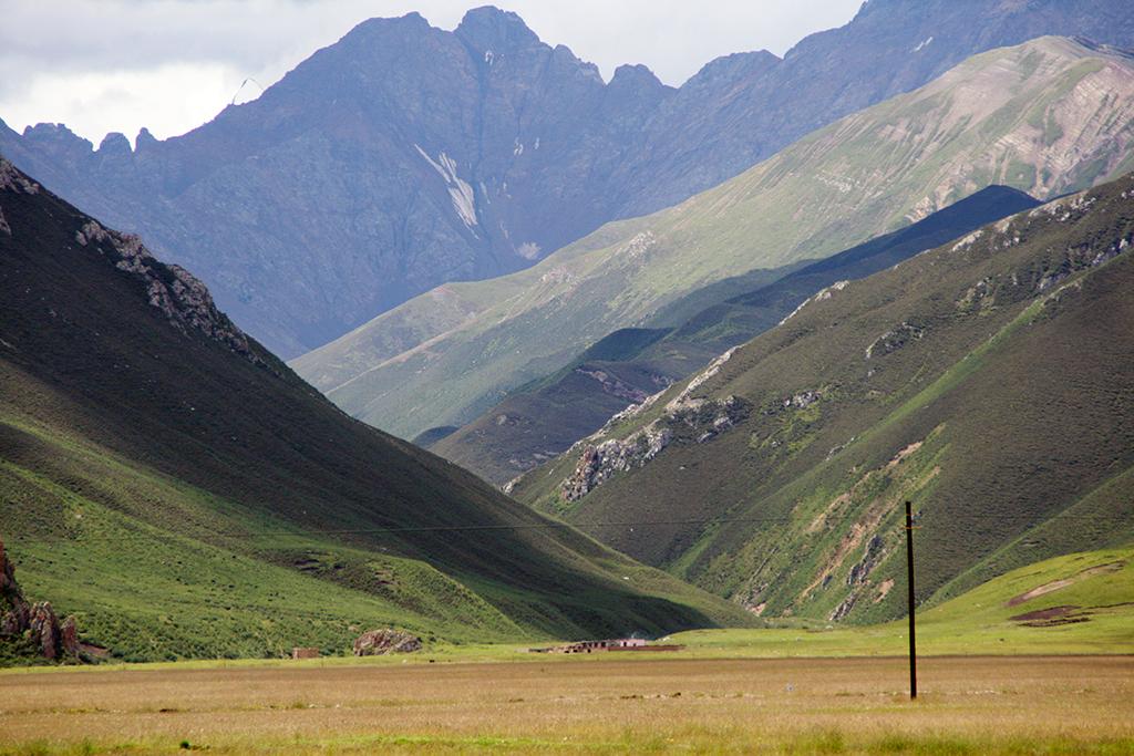 Open Wild Country Between Yushu and Nangchen