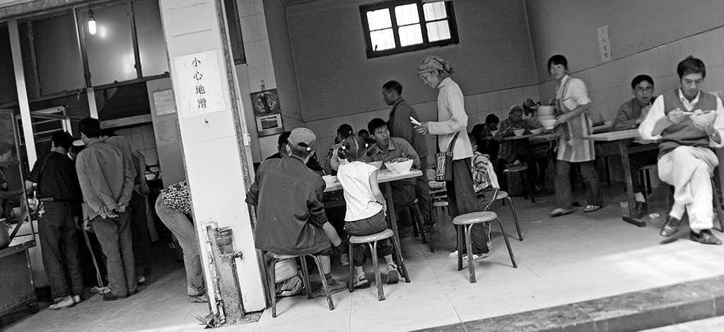 The Sani Minority at Lunan Market: Noodle Stalls
