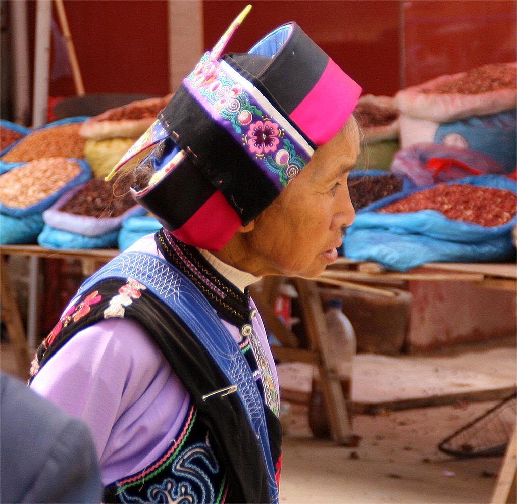 The Sani Minority at Lunan Market: The real thing: Sani Lady at Lunan Market
